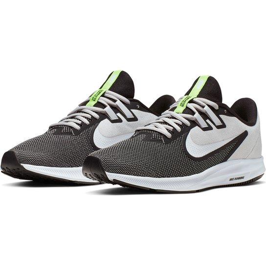 Tênis Nike Downshifter 9 Masculino - Preto+Off White