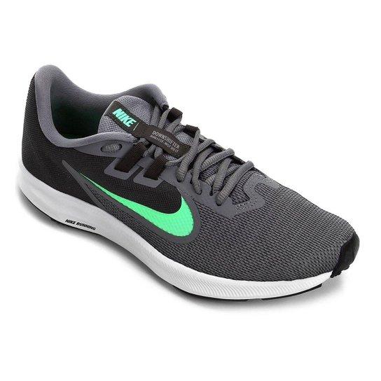 Tênis Nike Downshifter 9 Masculino - Cinza+Verde
