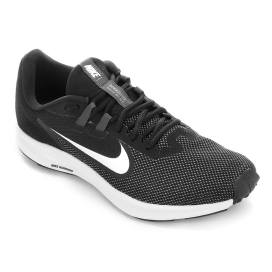 Tênis Nike Downshifter 9 Masculino - Preto+Branco