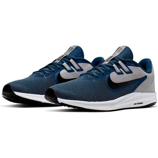Tênis Nike Downshifter 9 Masculino - Cinza+Azul