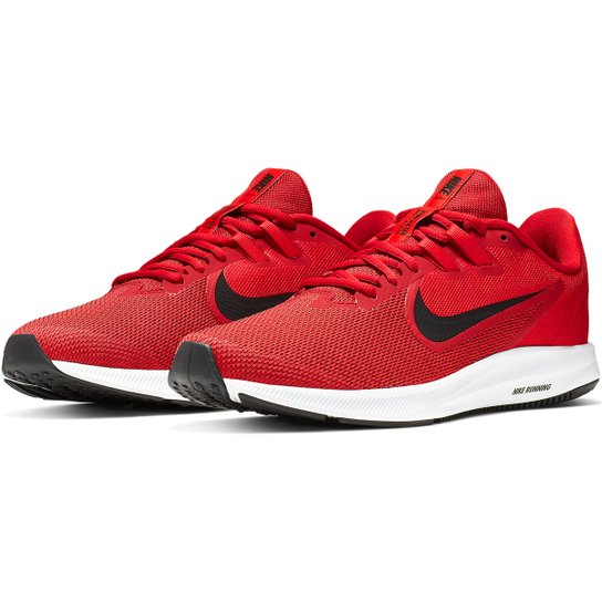 Tênis Nike Downshifter 9 Masculino - Vermelho+Preto