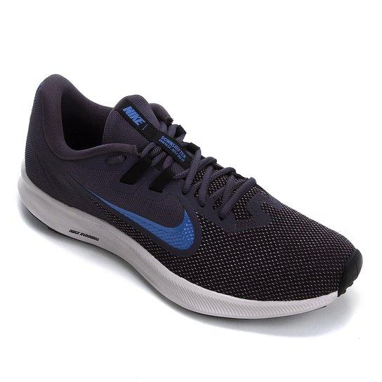 Tênis Nike Downshifter 9 Masculino - Chumbo+Azul