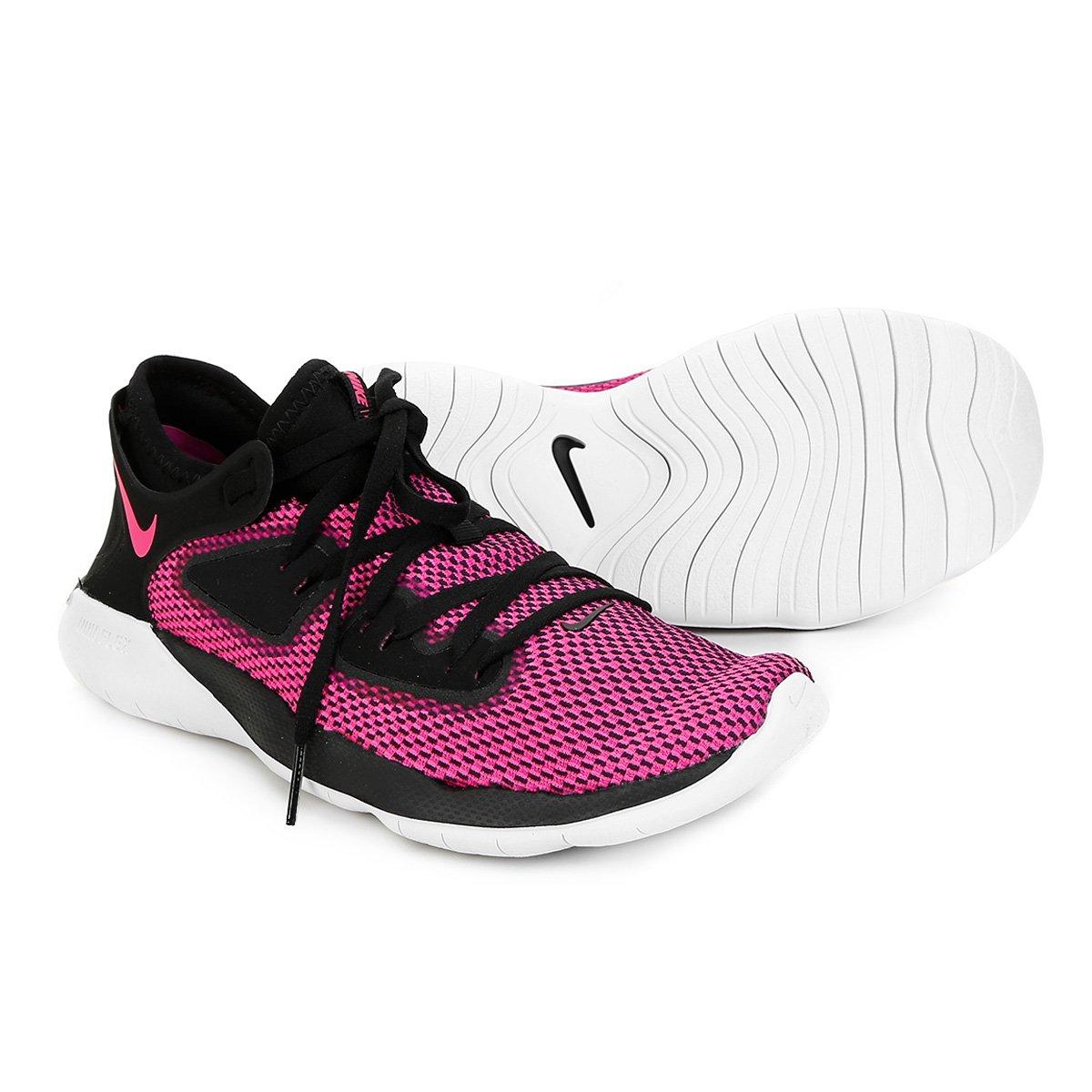 Tênis Nike Flex 2019 Run Feminino Preto E Pink