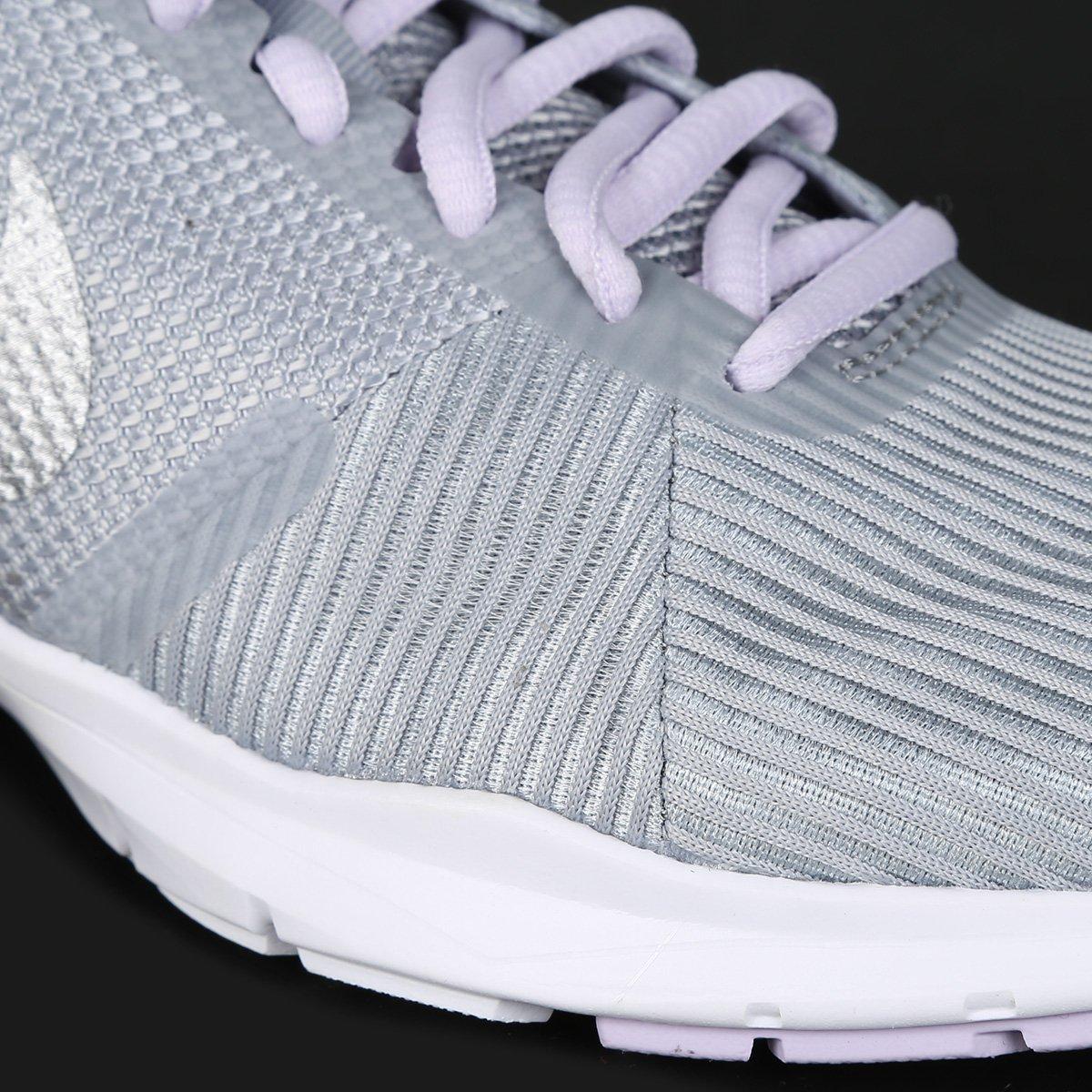 Tênis Nike Flex Bijoux Feminino - Cinza e Prata - Compre Agora ... 63d663794885c