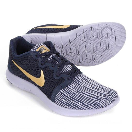 Tênis Nike Flex Contact 2 Feminino - Preto+Dourado