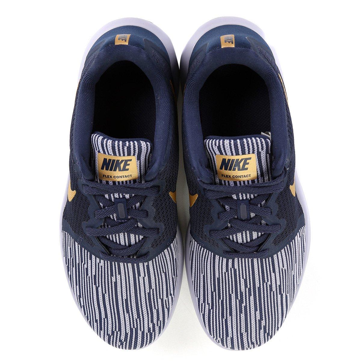 Tênis Nike Flex Contact 2 Feminino - Preto e Dourado - Compre Agora ... b1903c7cecb38