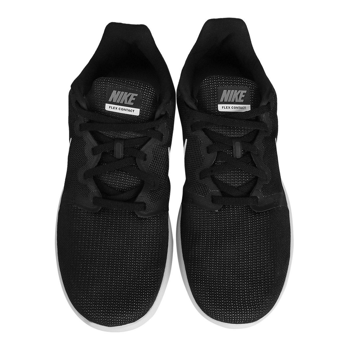 b4397a616a41a Tênis Nike Flex Contact 2 Masculino - Preto e Branco - Compre Agora ...