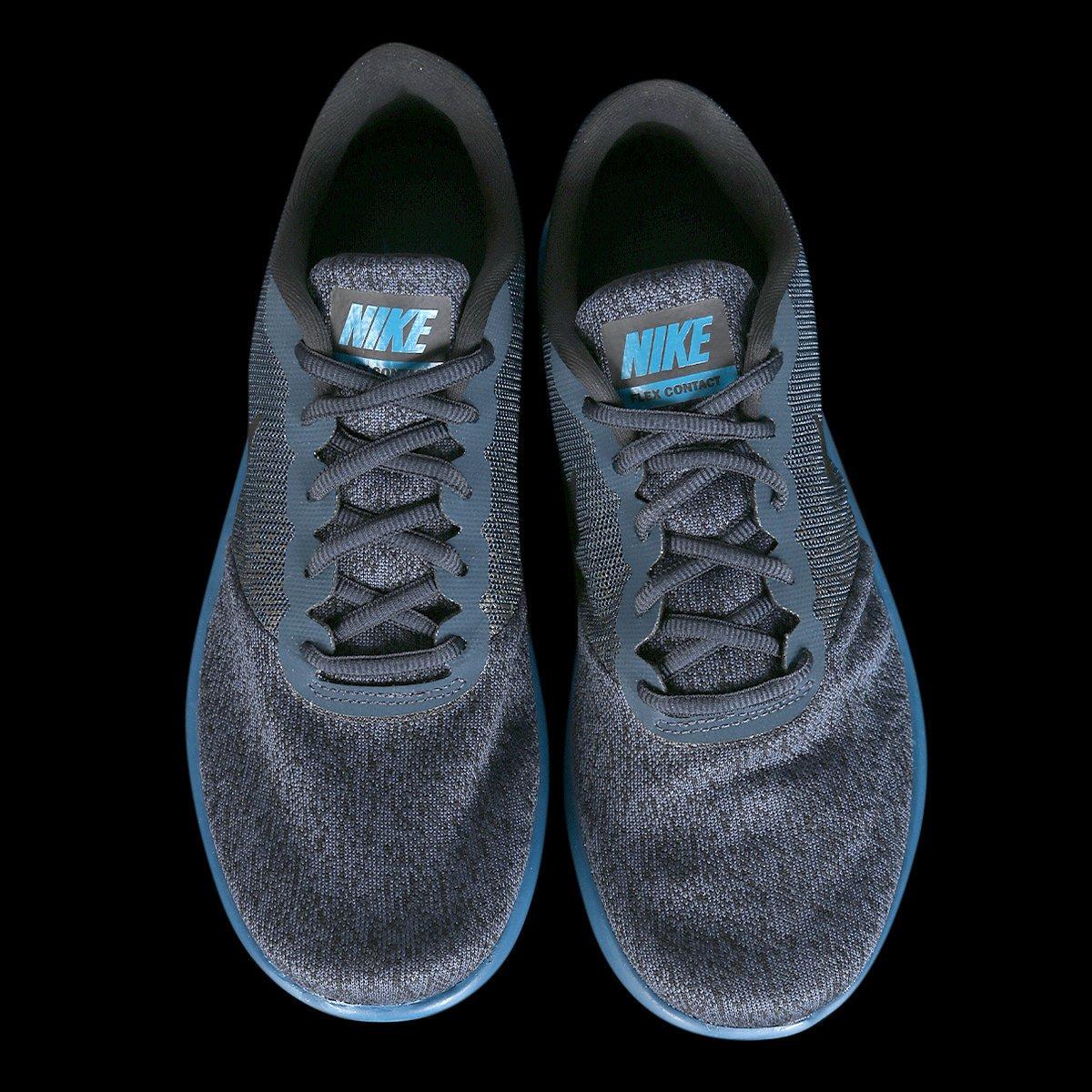 70a1a3e5de Tênis Nike Flex Contact Feminino - Preto e Azul - Compre Agora ...