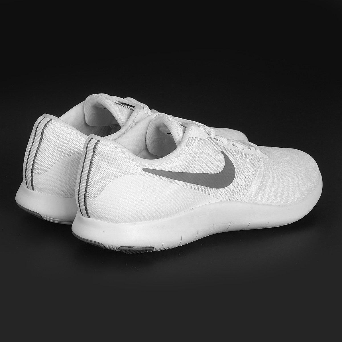 504b52adc1f1d Tênis Nike Flex Contact Masculino - Branco e Cinza - Compre Agora ...  f16fd1b1b0b333 ...