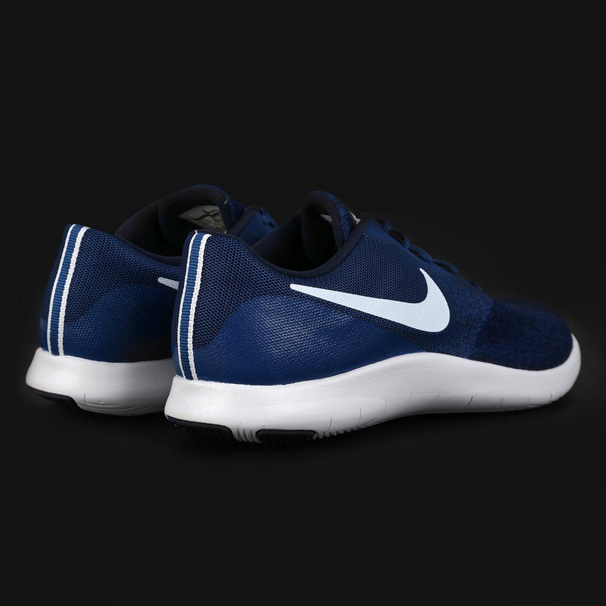77c4d52b4a ... Tênis Nike Flex Contact Masculino - Marinho e Branco - Compre Agora .