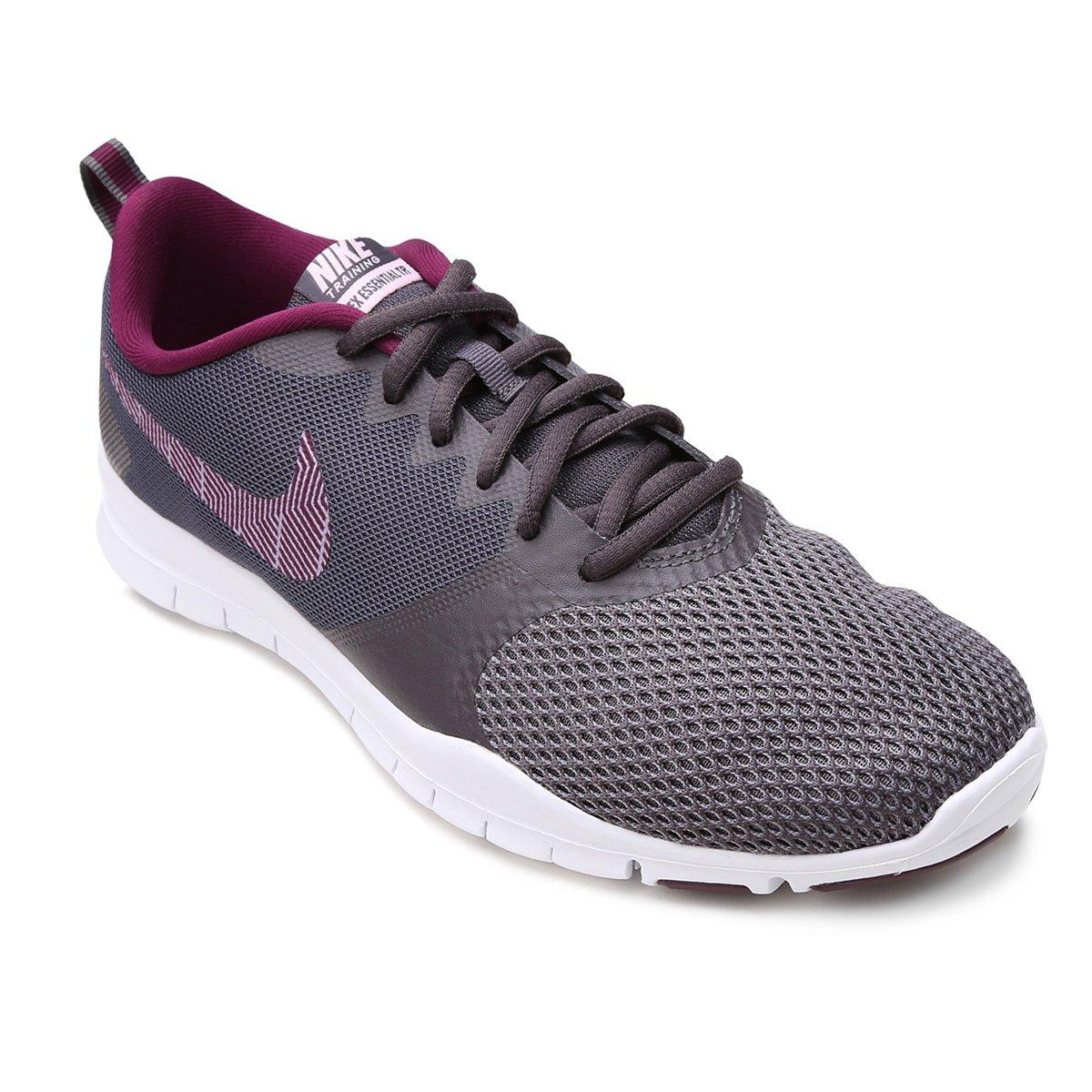 4a7bbec708c Tênis Nike Flex Essential TR Feminino - Cinza - Compre Agora