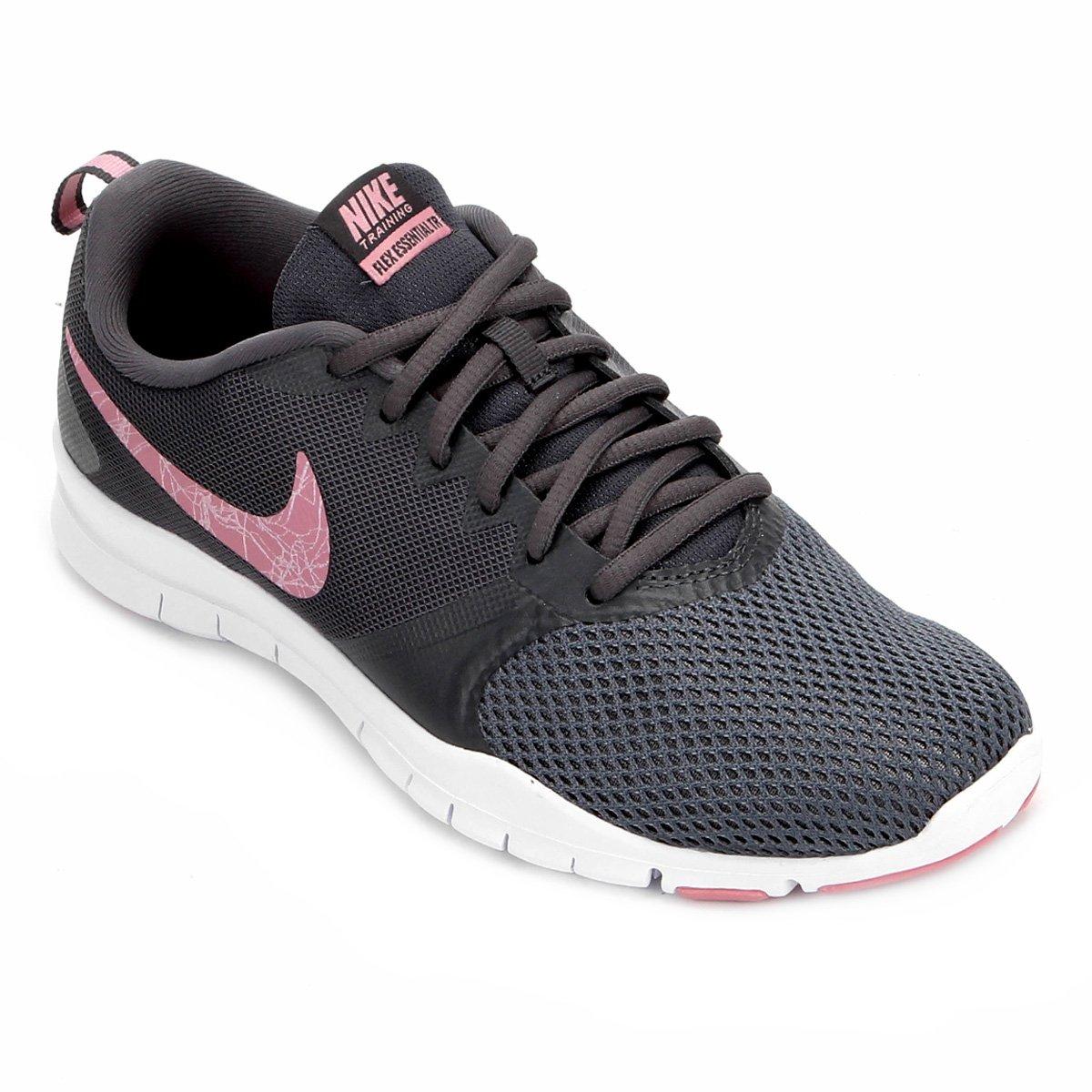 3817a3b464771 Tênis Nike Flex Essential TR Feminino - Cinza e Rosa - Compre Agora ...