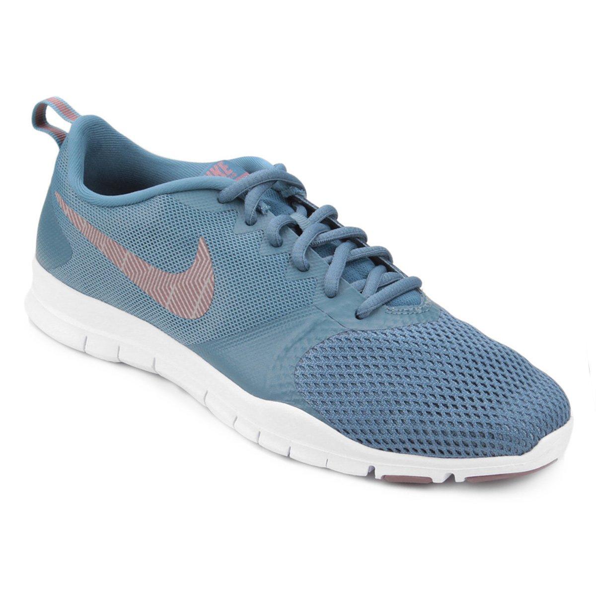 d61be4e3a33d0 Tênis Nike Flex Essential TR Feminino - Verde e Bege - Compre Agora ...