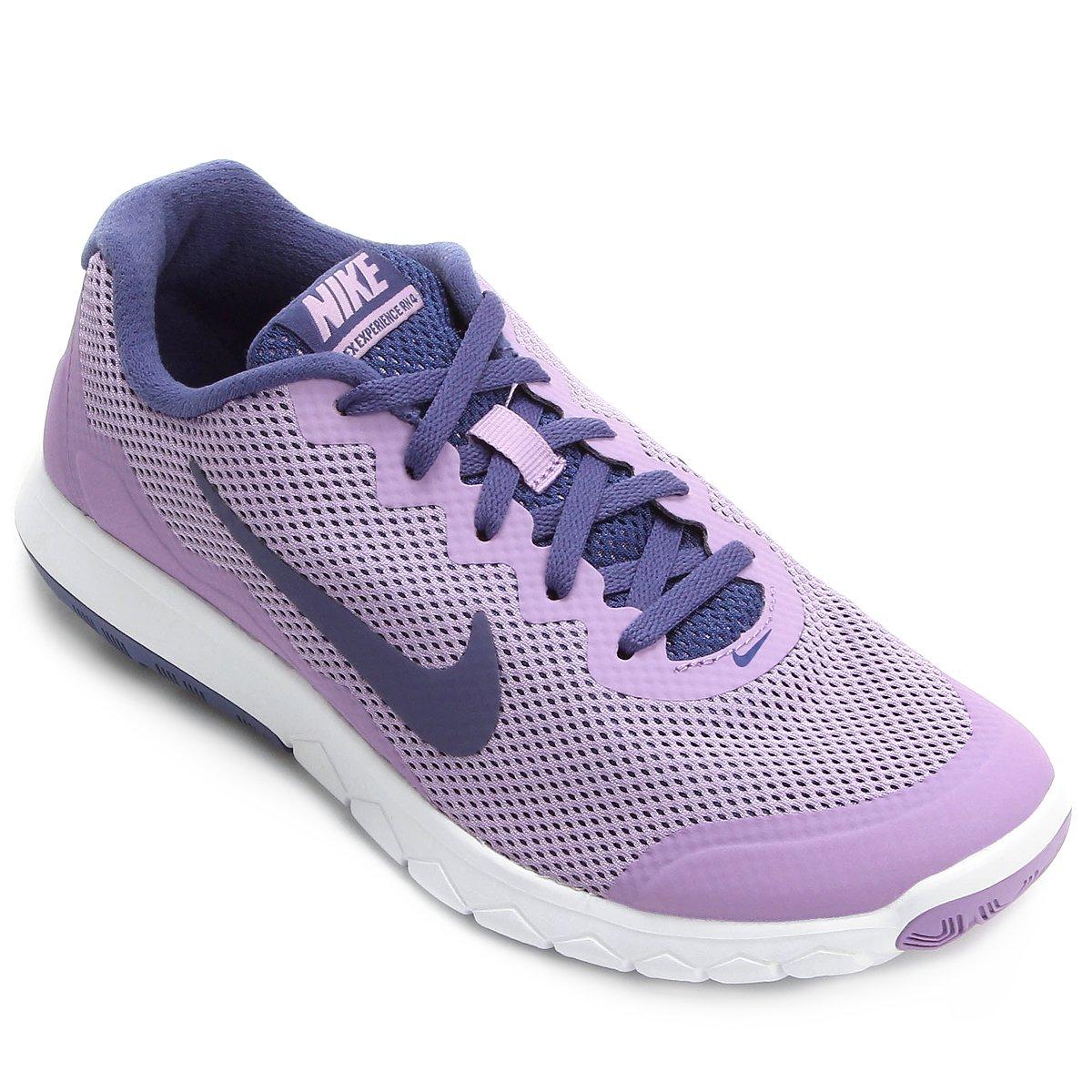 Tênis Nike Flex Experience Rn 4 Feminino Lilás E Azul