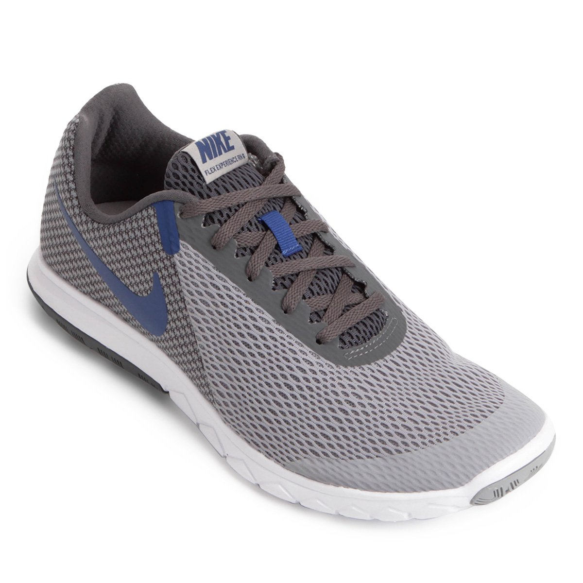 008819a9c5a6d Tênis Nike Flex Experience Rn 6 Masculino - Cinza e Azul - Compre Agora