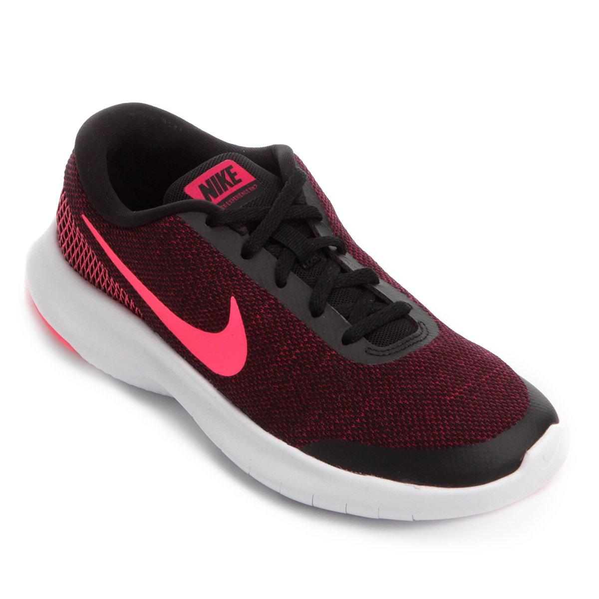 3aa5734846df6 Tênis Nike Flex Experience RN 7 Feminino - Preto e Rosa - Compre Agora