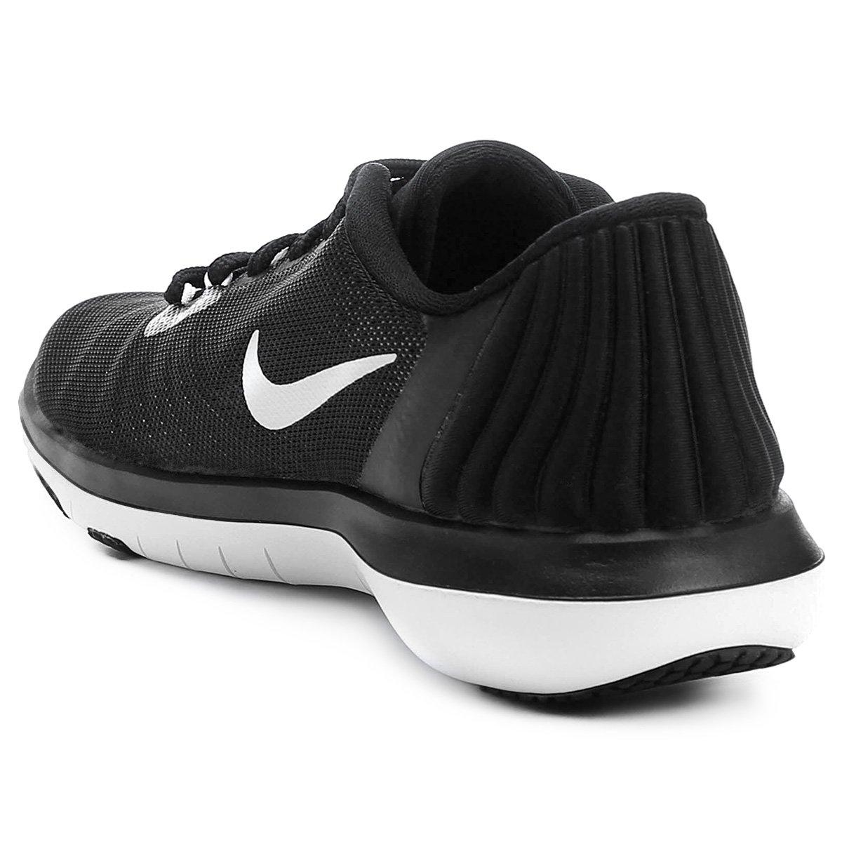536b4e39c4 Tênis Nike Flex Supreme TR 5 Feminino - Preto e Branco - Compre ...