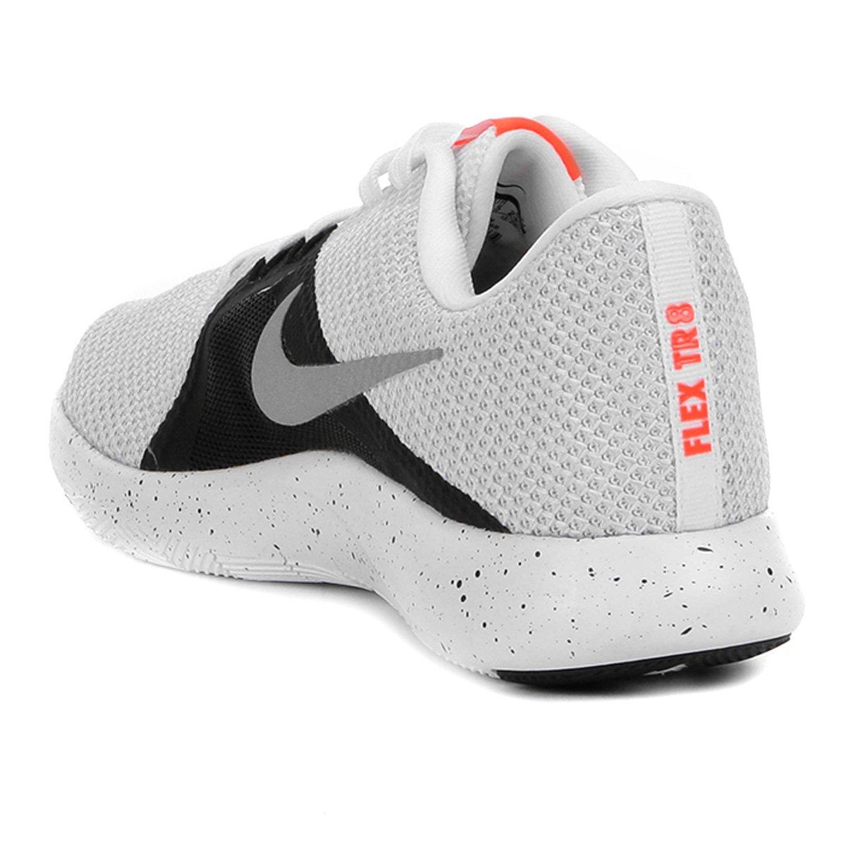 0f9f772c38 Tênis Nike Flex Trainer 8 Feminino - Branco e prata - Compre Agora ...