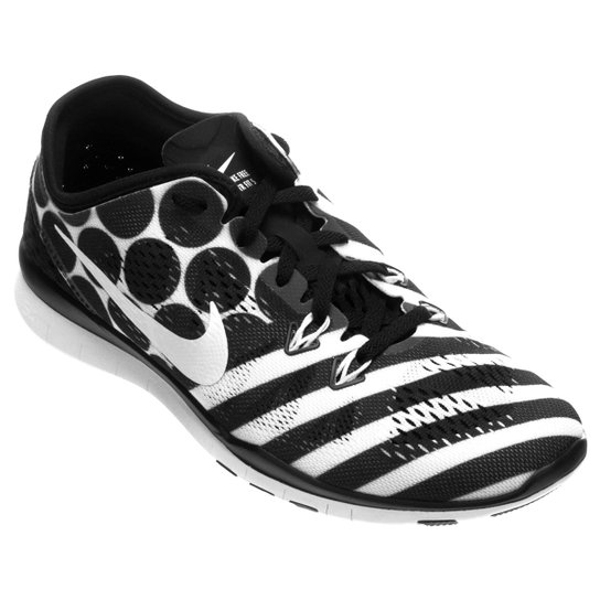 Tênis Nike Free 5.0 TR Fit 5 Feminino - Preto+Branco
