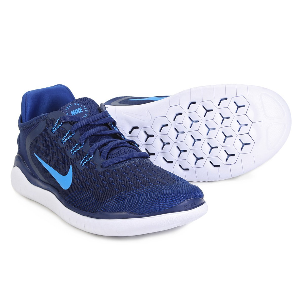 the best attitude 3c79b 13511 Tênis Nike Free Rn 2018 Masculino - Azul - Compre Agora  Net