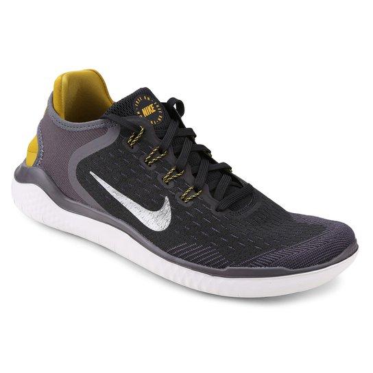 Tênis Nike Free Rn 2018 Masculino - Preto+Cinza