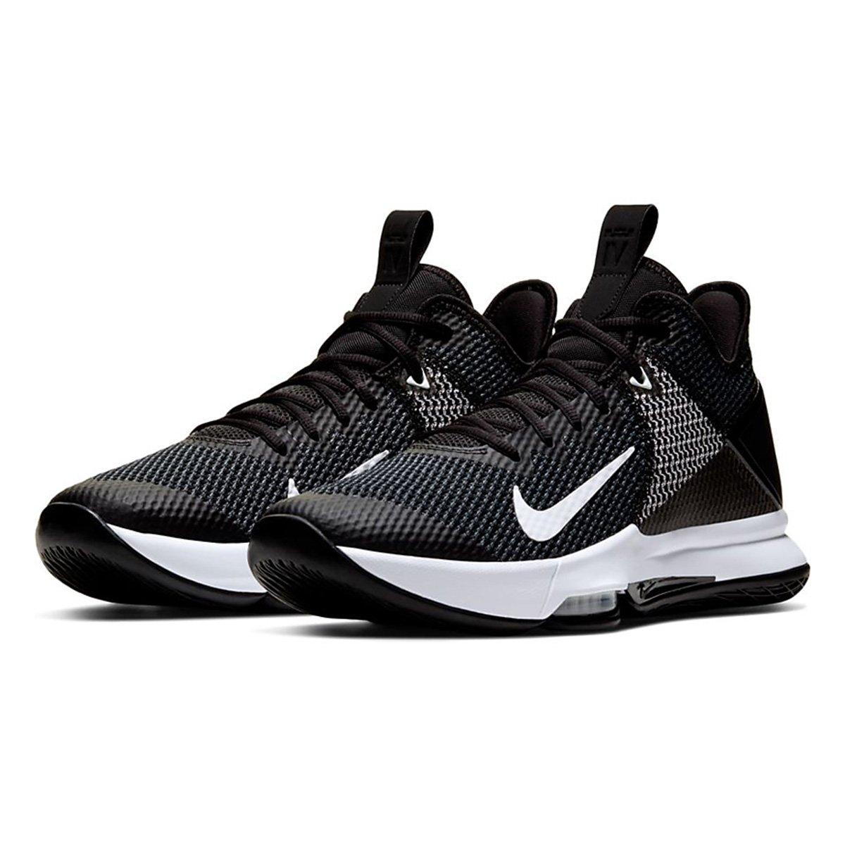 Bandido Pequeño Multitud  Tênis Nike Lebron Witness IV Masculino - Preto e Branco | Netshoes