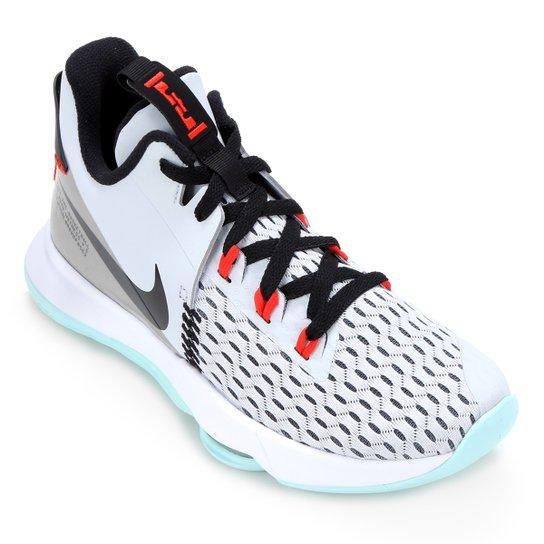 Tênis Nike Lebron Witness V - Cinza+Vermelho