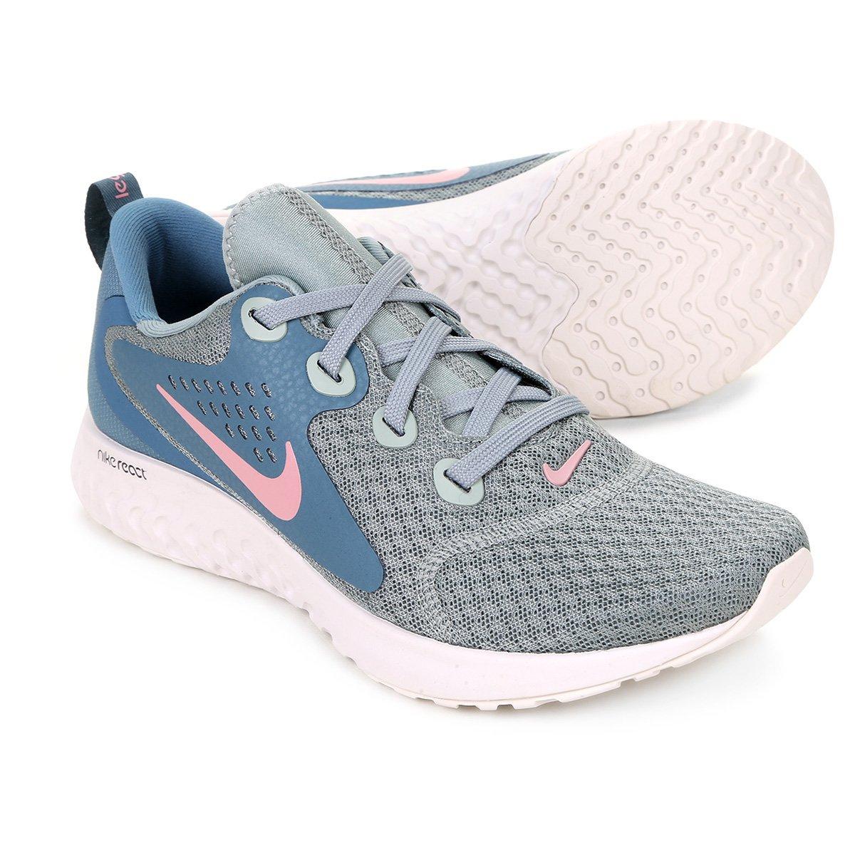 reputable site 8373f b8b62 Tênis Nike Legend React Feminino - Verde e Rosa - Compre Agora  Netshoes