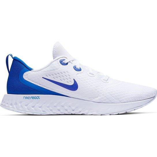 Tênis Nike Legend React Masculino - Branco+Azul Royal