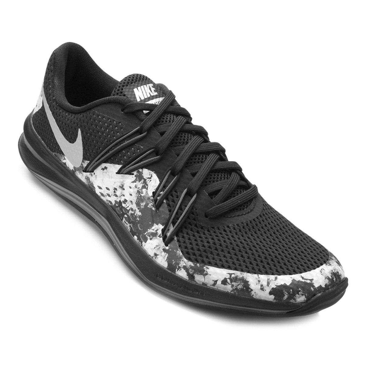 Tênis Nike Lunar Exceed Tr Print Feminino Preto e Prata