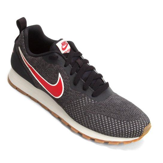 Tênis Nike Md Runner 2 Eng Mesh Masculino - Preto+Vermelho