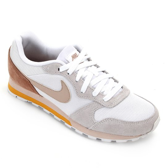 Tênis Nike Md Runner 2 Feminino - Branco+Areia