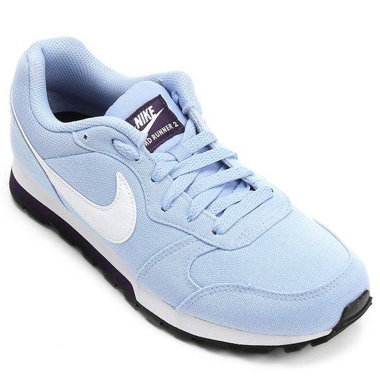 Tênis Nike Md Runner 2 Feminino - Branco+Violeta