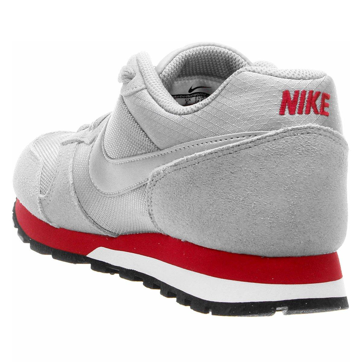 Tênis Nike Md Runner 2 Feminino - Cinza e Vermelho - Compre Agora ... 3d1d79572e80b