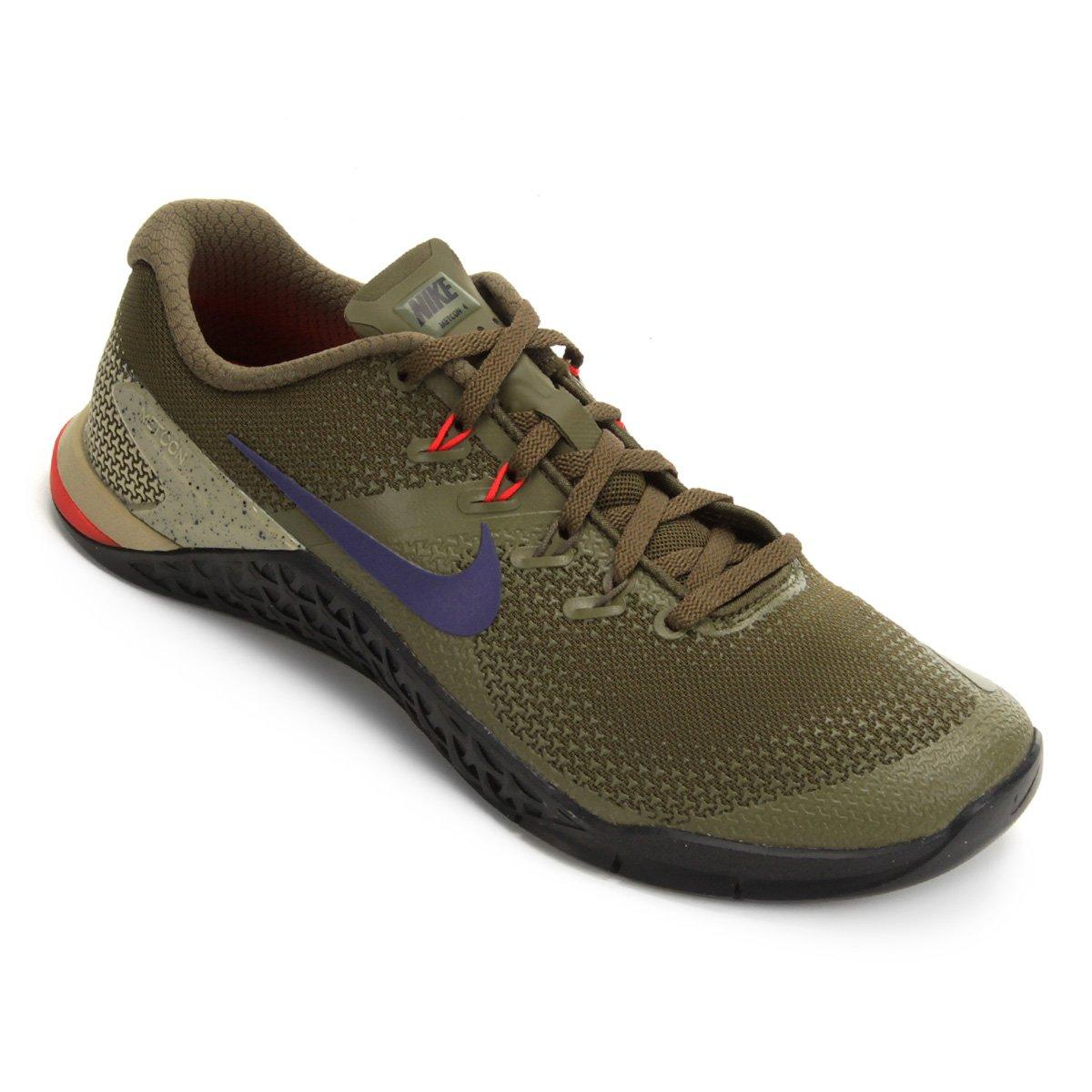 826887876 Tênis Nike Metcon 4 Masculino - Verde e Preto | Netshoes