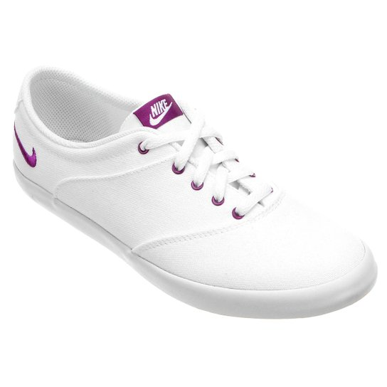 Tênis Nike Mini Sneaker Lace Canvas Feminino - Branco+Violeta