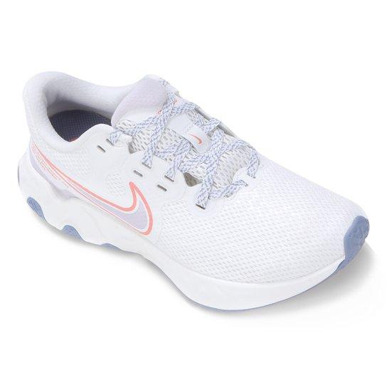 Tênis Nike Renew Ride 2 Feminino - Branco+Rosa