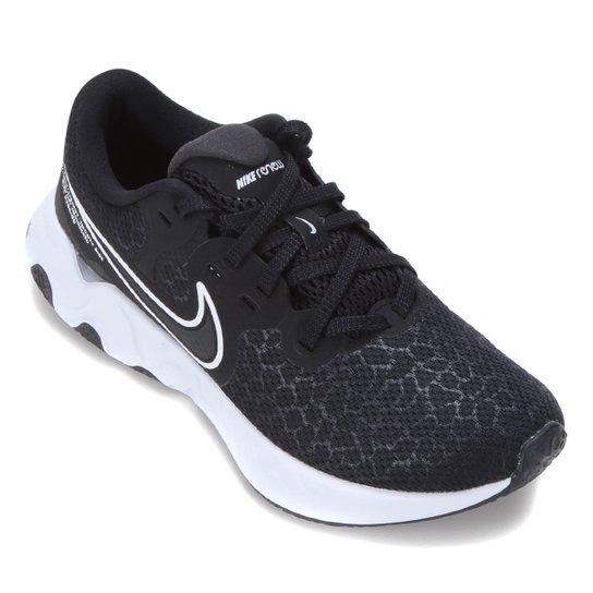 Tênis Nike Renew Ride 2 Feminino - Preto+Branco