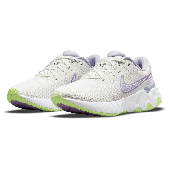 Tênis Nike Renew Ride 2 Feminino - Branco+Lilás