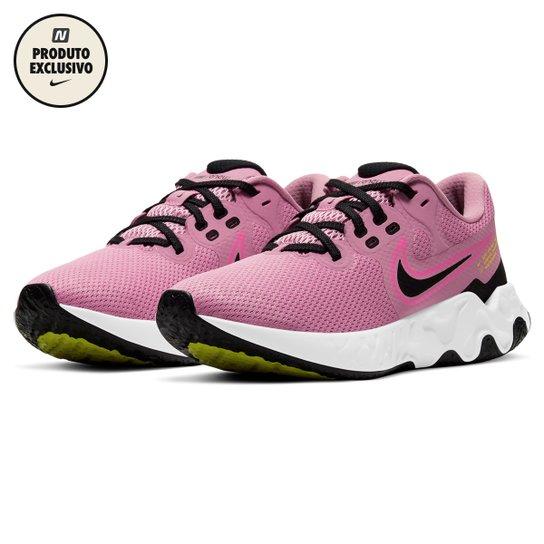 Tênis Nike Renew Ride 2 Feminino - Rosa+Preto