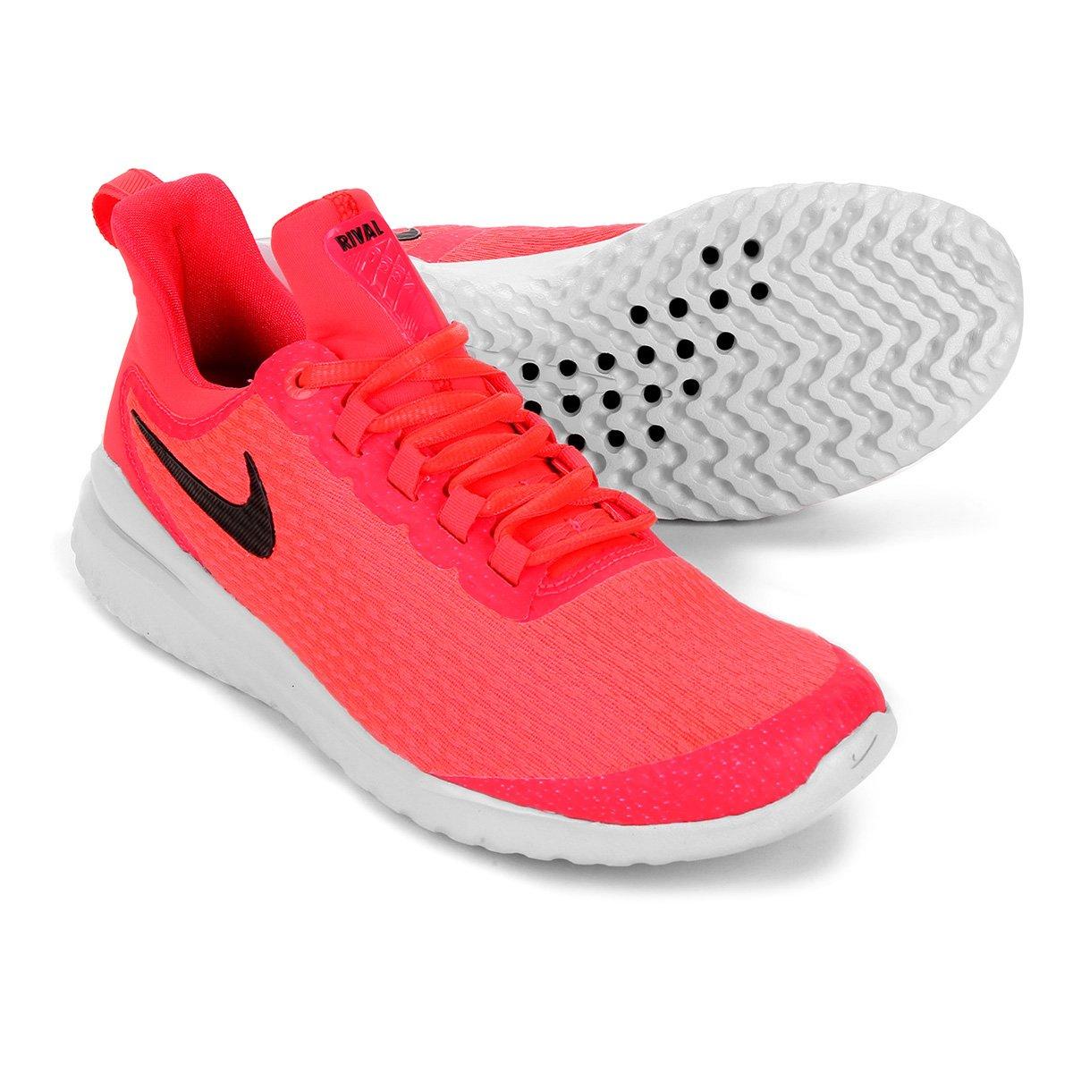 f0ee1e0b5967d Tênis Nike Renew Rival Feminino - Vermelho e Preto - Compre Agora ...