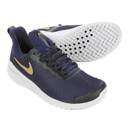 Tênis Nike Renew Rival Feminino - Azul+Dourado