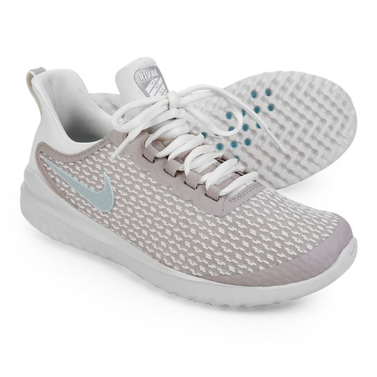 Tênis Nike Renew Rival Feminino - Bege+Azul