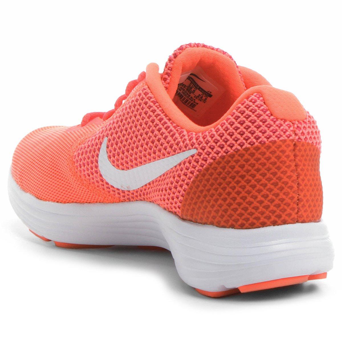 b3f7acacc9 Tênis Nike Revolution 3 Feminino - Salmão e Branco - Compre Agora ...