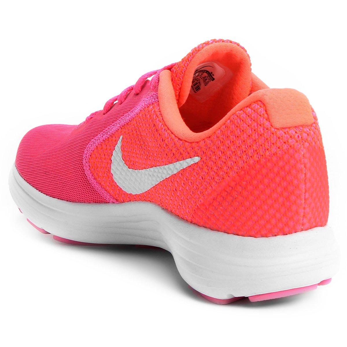 8d7e41243a Tênis Nike Revolution 3 Feminino - Pink e Branco - Compre Agora ...
