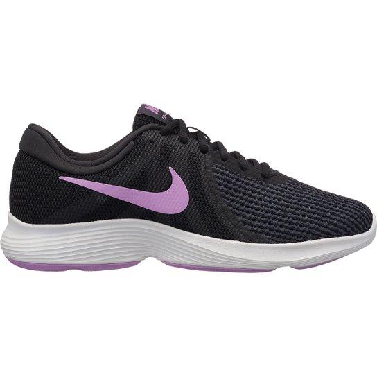 Tênis Nike Revolution 4 Feminino - Preto+Rosa