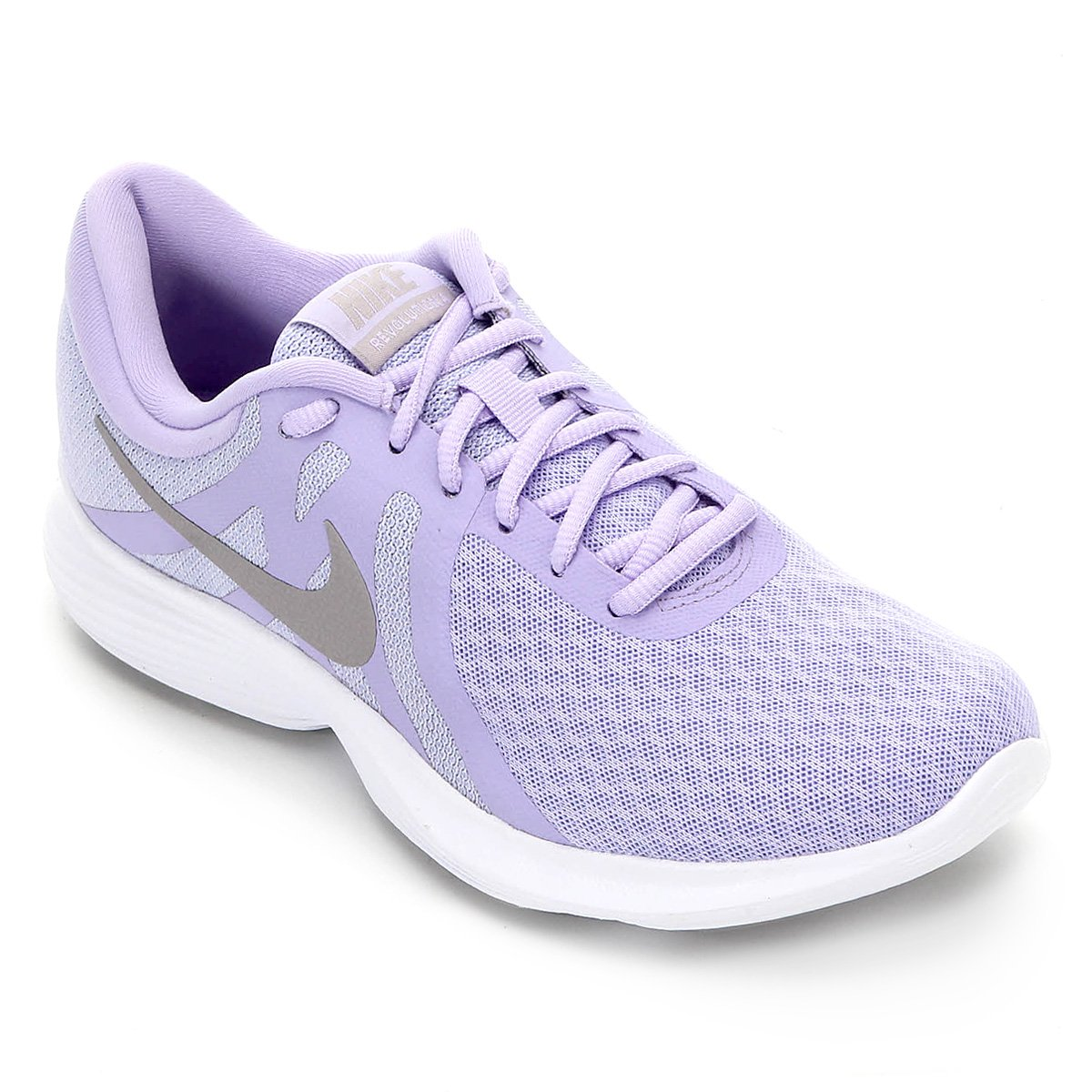 Tênis Nike Revolution 4 Feminino Lilás E Cinza