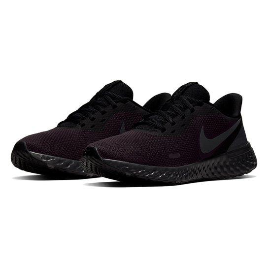 Tênis Nike Revolution 5 Feminino - Preto+Grafite