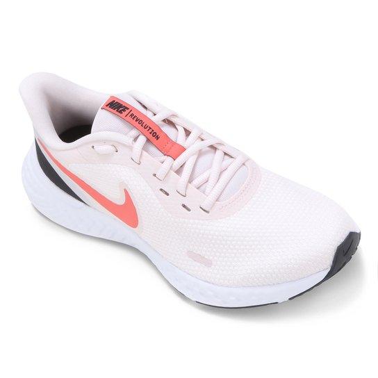 Tênis Nike Revolution 5 Feminino - Salmão+Rosa