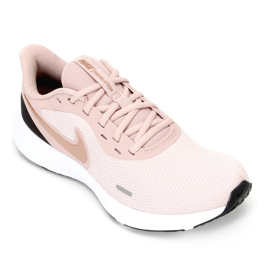 Tênis Nike Revolution 5 Feminino - Rosa+Dourado